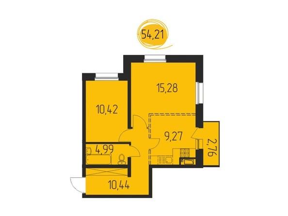 2-комнатная 54,21 кв.м