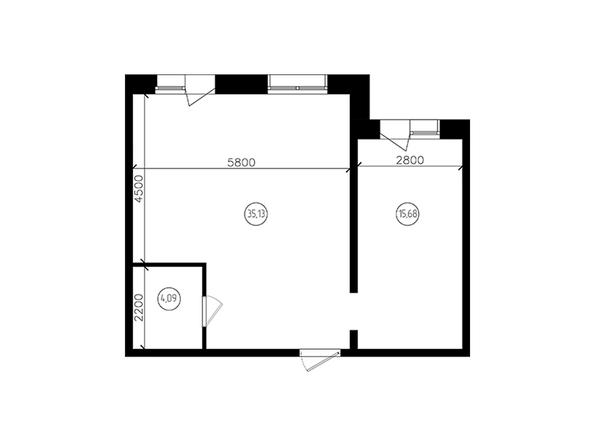 Планировки Жилой комплекс ПЕРСПЕКТИВА - 2-комнатная 55,61 кв.м