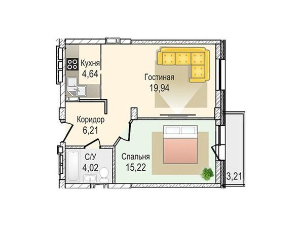 Планировки Жилой комплекс КрымSky, дом 7 - 2-комнатная 79,99 кв.м