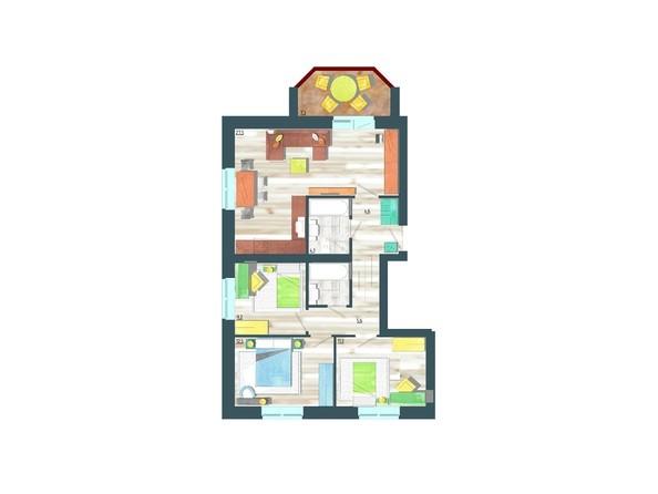 Планировки Жилой комплекс ЖИВЁМ эко-район, 10 квартал, дом 1 - Планировка четырехкомнатной квартиры 81,4 кв.м