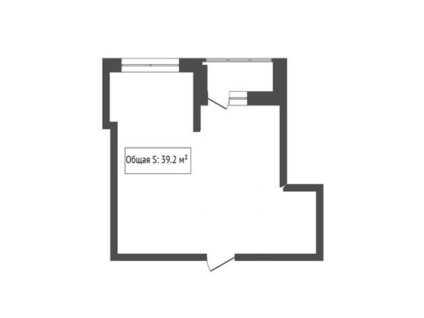 1-комнатная 39.2 кв.м
