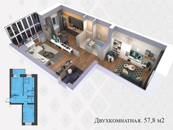 Планировки Жилой комплекс Львовская, 33а - 2-комнатная 57,8 кв.м