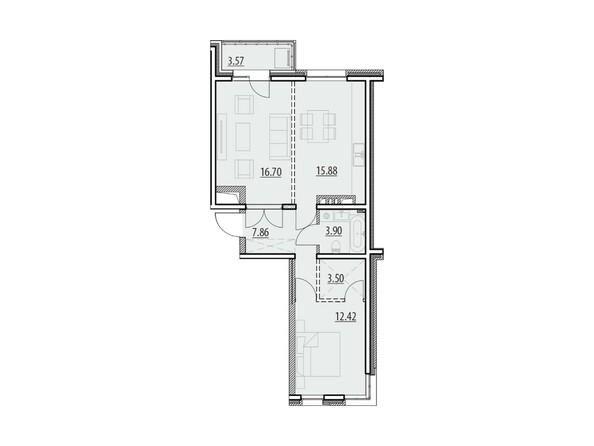 Планировка 2-комн 63,83 - 64,49 м²