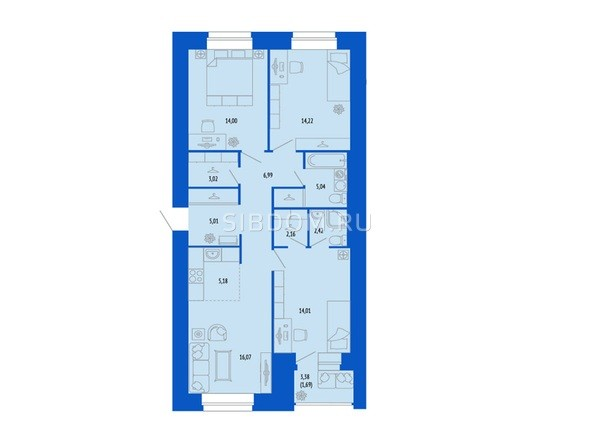 4-комнатная 89.81 кв.м