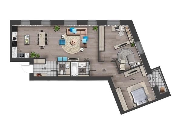 Планировки Жилой комплекс ПРЕОБРАЖЕНСКИЙ, дом 9 - 3-комнатная 111,52 кв.м