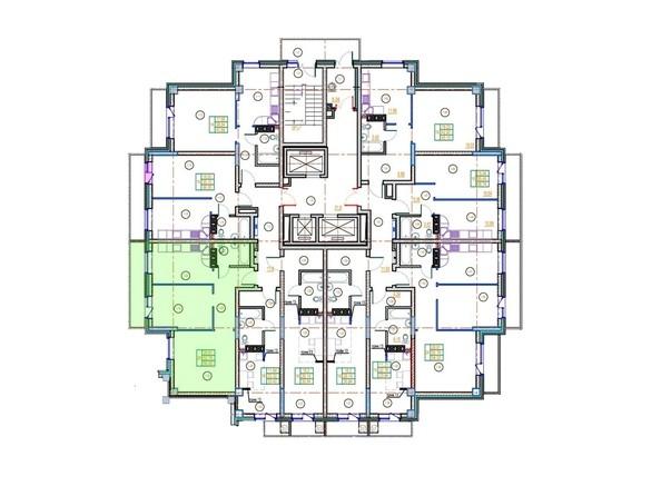 Планировки Жилой комплекс ГЛОБУС ЮГ, дом 9 - 2-комнатная 56 кв.м.