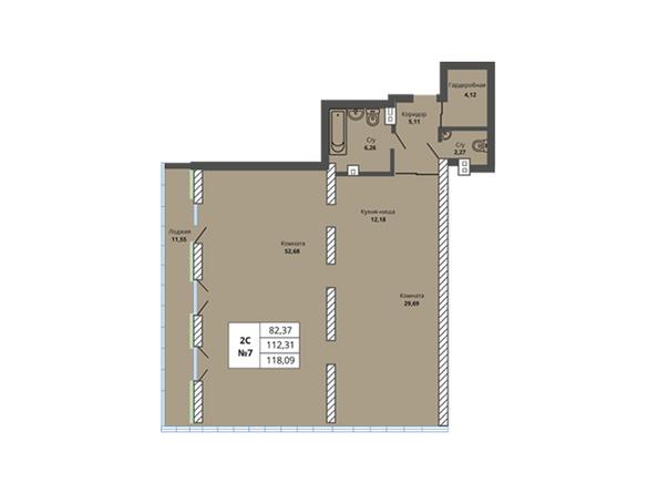 Планировки Жилой комплекс PRIME HOUSE (Прайм хаус) - Планировка двухкомнатной квартиры 112,31 кв.м