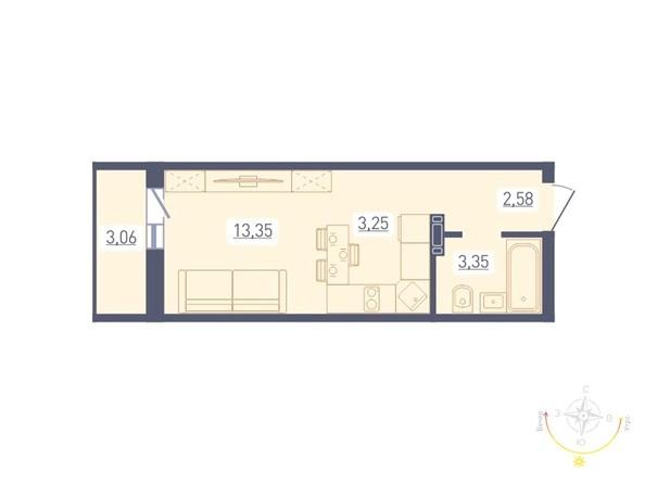 Планировка Студия 24,06 м²