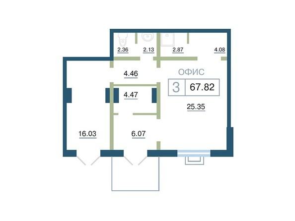 Планировка  67,82 м²