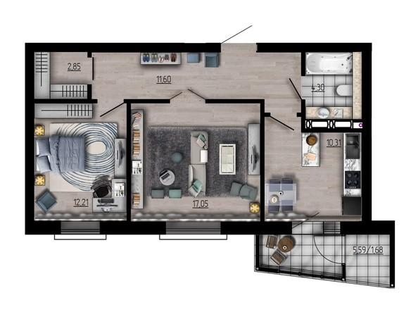 Планировка двухкомнатной квартиры 60 кв.м