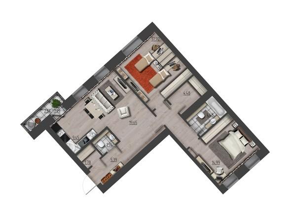 Планировки Жилой комплекс ПРЕОБРАЖЕНСКИЙ, дом 9 - 3-комнатная 85,62 кв.м