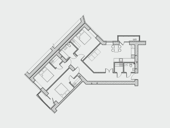 Планировки Жилой комплекс ПРЕОБРАЖЕНСКИЙ, дом 4 - Планировка четырехкомнатной квартиры 103 кв.м