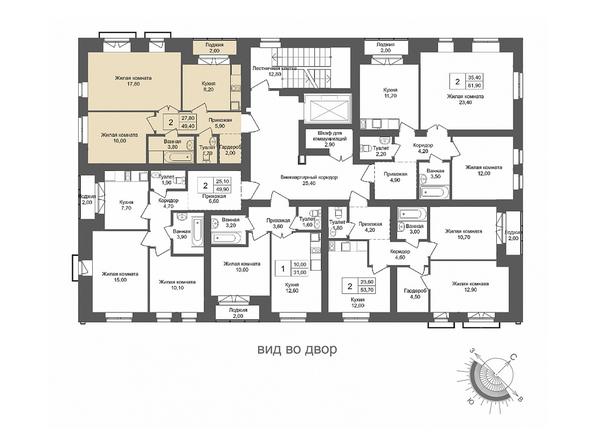 Планировки Жилой комплекс ОНЕГА, дом 2 - 2-комнатная 49,4 кв.м