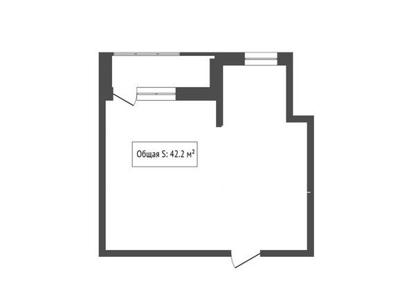 2-комнатная 42.4 кв.м