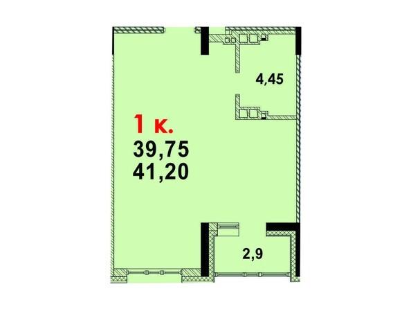 Планировка 1-комн 40,8 м²