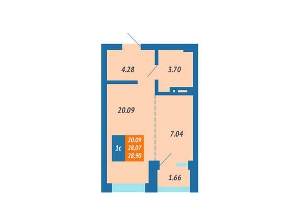 Планировка Студия 27,9 м²