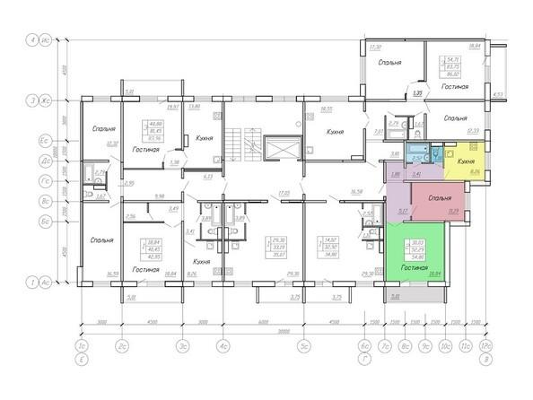 Планировки Жилой комплекс МОДЕРН-2, стр 10, 2 этап