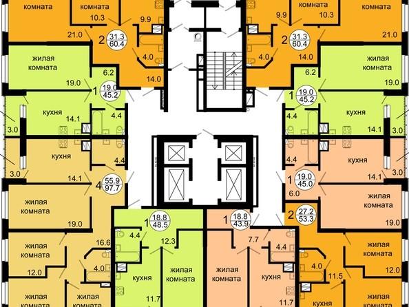 Планировка 5-12 этажа