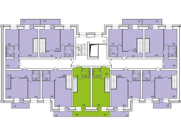 Планировки Жилой комплекс СНЕГИРИ, дом 2 - 2 секция 10 этаж (двухуровневые)