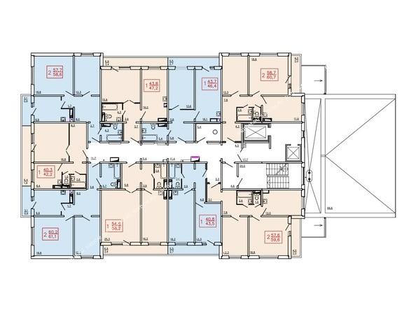 Планировка 2-9 этажей