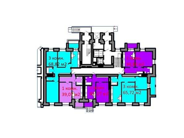 Планировки Жилой комплекс СЕРЕБРЯНЫЙ БЕРЕГ, дом 5 - Подъезд 1. Планировка 1 этажа