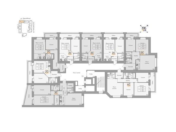 Планировки Жилой комплекс ДВЕ ЭПОХИ, корпус 3 - Планировка 12 этажа, 4 б/с