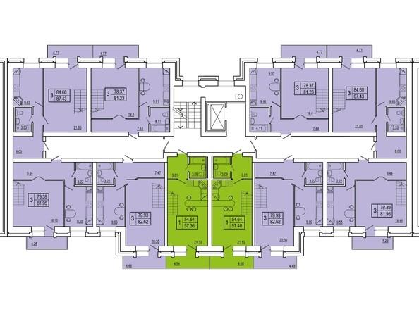 Планировки Жилой комплекс СНЕГИРИ, дом 3 - 2 секция 9 (двухуровневые)
