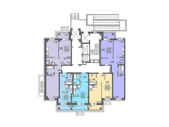 Планировки Жилой комплекс МАТРЁШКИ, дом 6 - Планировка 1 этажа, 3 б/с