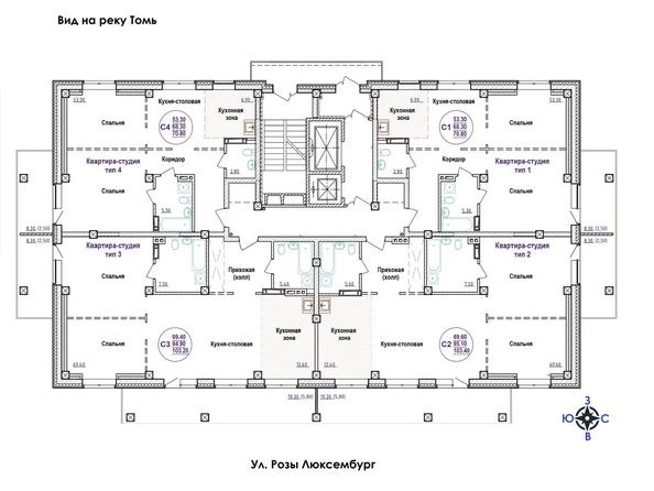 Типовая планировка 2-17 этажей