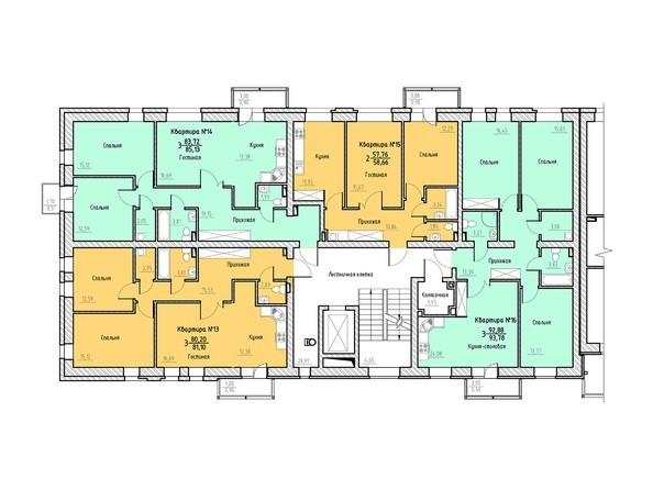 Планировка 5-6 этажей 1 подъезд