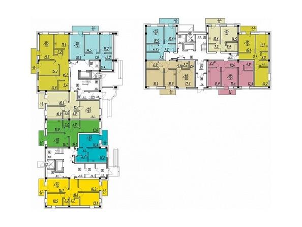 Планировки ВЕСНА ж/к, 2 этап - Планировка 1 этажа