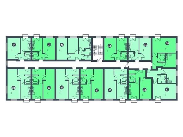 Планировки Микрорайон РЯБИНОВКА - Планировка 2 этажа