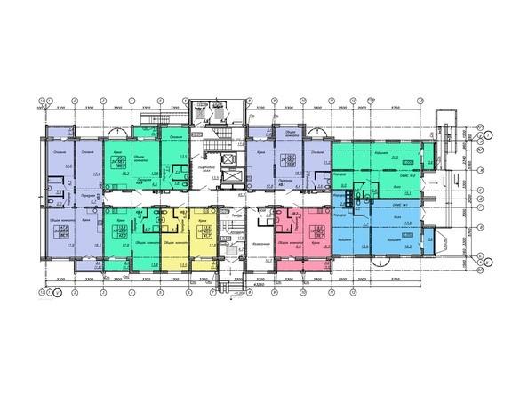 Блок-секция 1. Планировка 1 этажа.