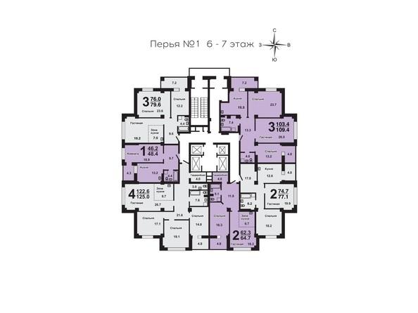 План 6-7 этажей
