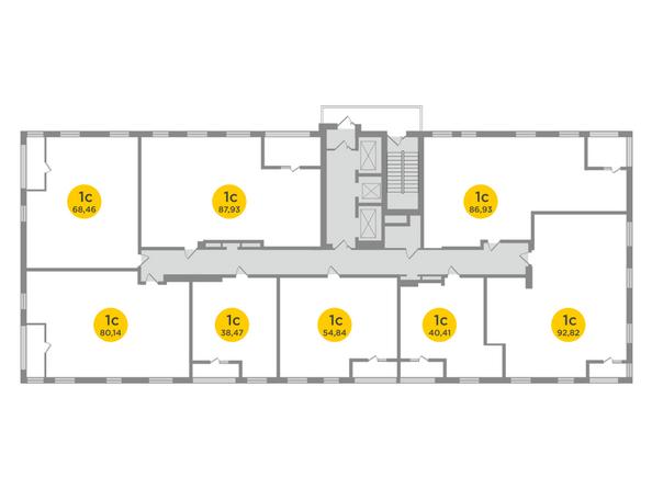 Планировки Жилой комплекс ЯСНЫЙ БЕРЕГ, дом 12 - Планировка 26 этажа