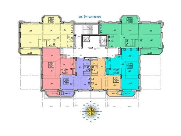 Планировки Жилой комплекс НОВАЯ ВЫСОТА, дом 1