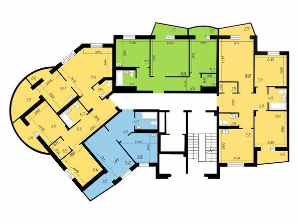 Блок-секция 1. Планировка 2,3 этажей