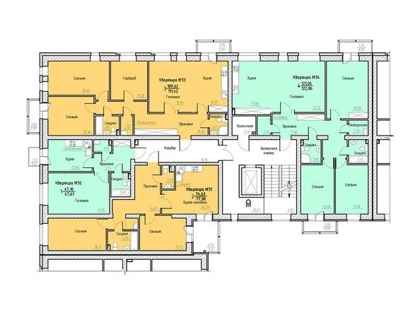 Планировка 4 этажа 2 подъезд.
