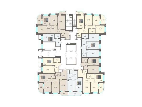 Планировки Жилой комплекс ЛОМОНОСОВ - Планировка 1 этажа