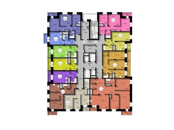 Планировки Жилой комплекс НА ДУДИНСКОЙ, дом 2  - Планировка 17-25 этажей