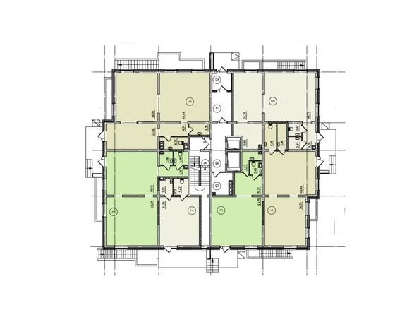 Планировки Жилой комплекс ЧЕТЫРЕ СОЛНЦА, 1 оч, б/с 1 - Планировка 1 этажа