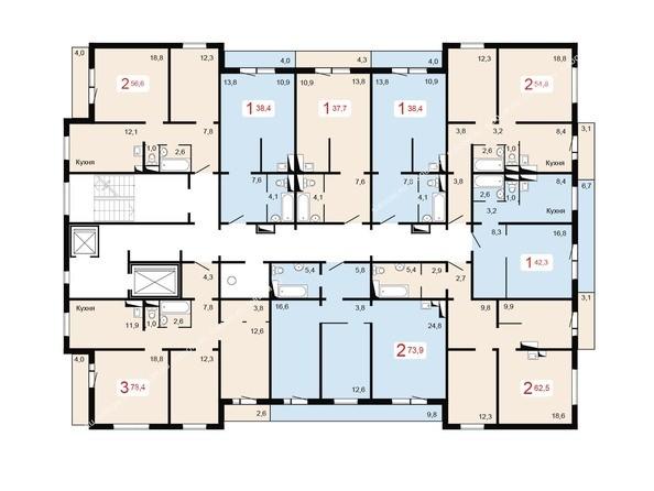 2-9 этажи