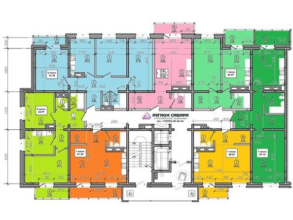 Планировки Жилой комплекс ЯКОБИ-ПАРК, 2 оч, б/с 4 - Планировка 5-13 этажей