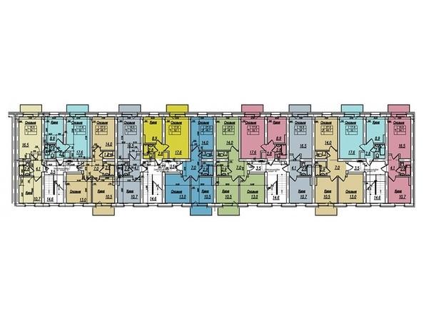 Блок 2а. Планировка 2-5 этажей