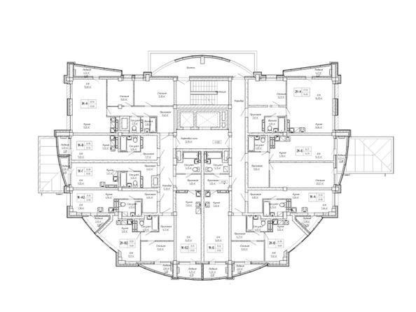 Планировки Жилой комплекс ДОМ НА СИБИРСКОЙ - Планировка 3 этажа