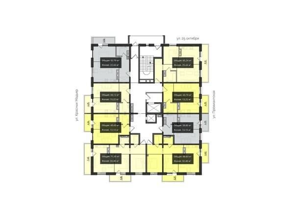 Планировки Жилой комплекс КВАРТАЛ, 2 оч, б/с 3 - Планировка 9-10 этажей