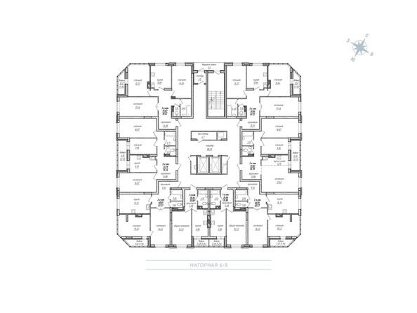 Планировка 2-12 этажей