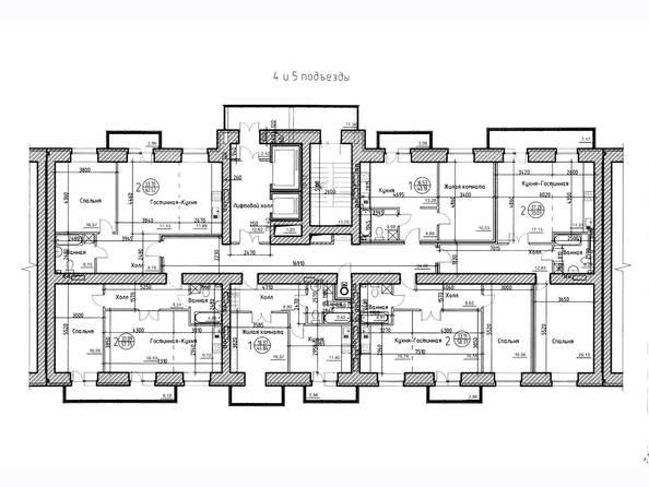типовой этаж, 4-5 подъезд
