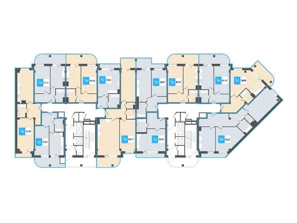 Планировка 4-12 этажей