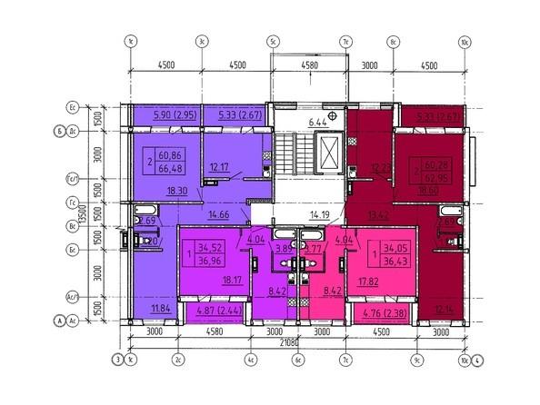 Планировки Жилой комплекс Павловский тракт, 305г - Планировка 2 этажа, 7 б/с